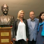 Mr. Ivan Anchev, Consul General of Bulgaria and Mrs. Lilly Ancheva in Chicago at Commemoration of Aleko Konstantinov on the 120th anniversary of the writer's death. The University of Chicago, Regenstein Library. Photo Credit: Ivan Haralanov FotoDetail